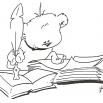 schrijvende beer