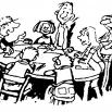mensen vergaderen rond een tafel