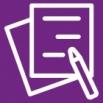 icoon met twee papieren en een pen