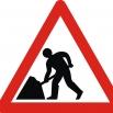 verkeersbord: werken in uitvoering