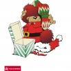 kerstbeer met pakje