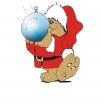 kerstbeer met kerstbal