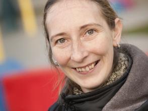 Kelly Vermeulen, ouder van kleuter in de Stedelijk Basisschool De Kameleon