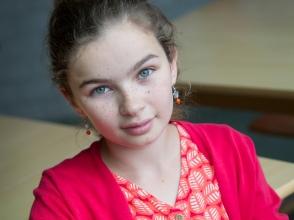 Margot Himschoot  ex-leerling van stedelijke basisschool Polderstad
