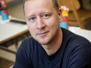 David Van beeck, leerkracht 6de leerjaar van de Stedelijke Basisschool 't Baeckelandje en de Romeintjes