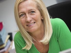 Sonja Jacobs, secretariaatsmedewerker van het Stedelijk Lyceum Berchem