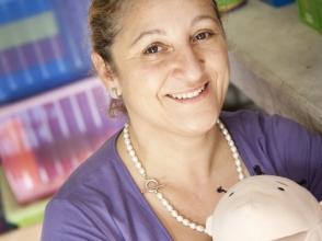 Juffrouw Nadia Laboud van Stedelijke Basisschool De Musjes