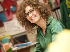 Noeska Leys, leerkracht onthaalklas Nederlands voor Anderstaligen Omnimundo