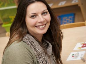Lindsey Peeraer, kleuterjuf in stedelijke kleuterschool het Pieterke