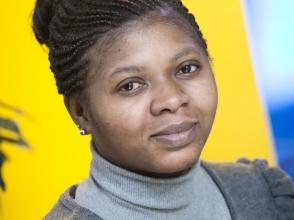 Tina Agyemang, mama van kindjes van stedelijke basisschool de Bijtjes