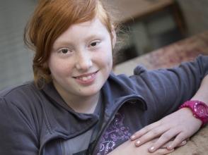 Amber VIngerhoets, leerling van Stedelijke Basischool De Mozaiek