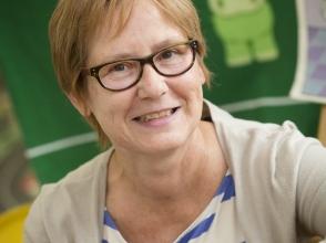 Katia De Ceulaerde, leerkracht in Stedelijke Basisschool De Wereldschool & de Kleine Wereld