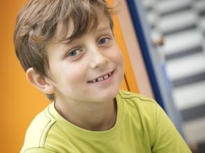 Ado Bladt, leerling van het 2e leerjaar van Stedelijke Basisschool Leopold 3