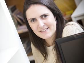 Nathalie Jacobs, leerkracht Economie in stedelijk lyceum Linkeroever