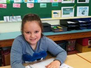 Lediana Cahanaj, leerling van het 1ste leerjaar van Stedelijke Basisschool De Octopus