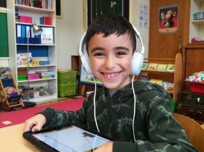 Mohamed El-Allachi, leerling van het 1ste leerjaar van Stedelijke Basisschool De Octopus