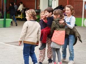 Leerlingen 1ste leerjaar van Stedelijke Basisschool De Kolibrie