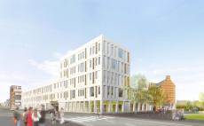 Campus Hardenvoort Park Spoor Noord zicht Toren