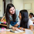Leerling in Stedelijke basisschool Flora