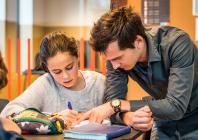 leerling en leerkracht