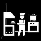 Pictogram grootkeukenmedewerker