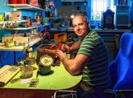 Nick Vanhoute in zijn atelier