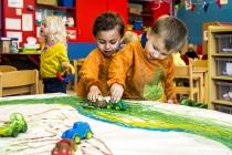 Kinderen op Stedelijke basisschool de zonnebloem