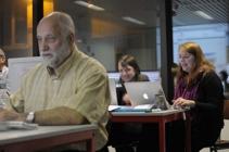 Cursisten volgen de opleiding webdesign