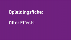 Opleidingsfiche After Effects