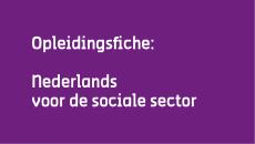 Opleidingsfiche Sociale sector