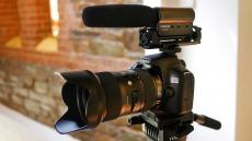 Videocamera met microfoon