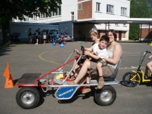 Leerling in go-cart