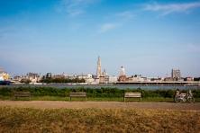 skyline Antwerpen vanop linkeroever