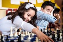 Kinderen schaken