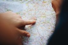 wegenkaart met detail van Parijs