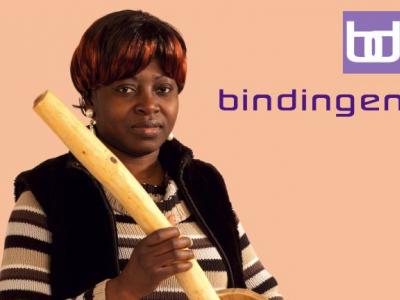 campagnebeeld: vrouw met Afrikaanse mixer